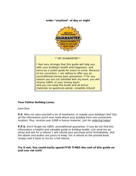 Comfort Letter Guarantee Sle Sales Letter Sle Pet Industry