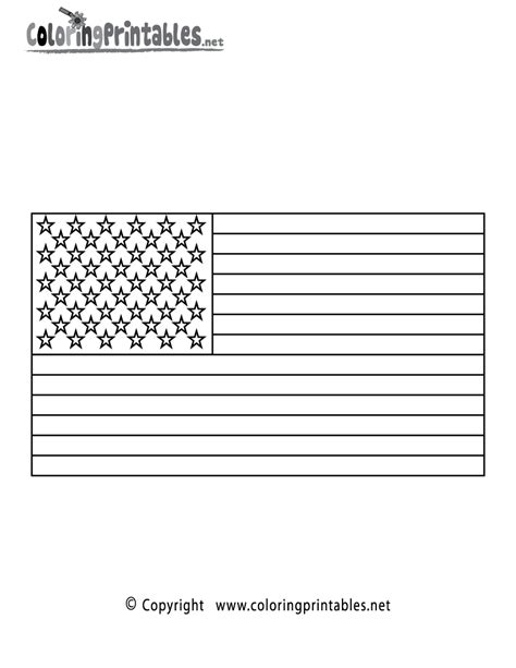 free coloring pages of flags of america