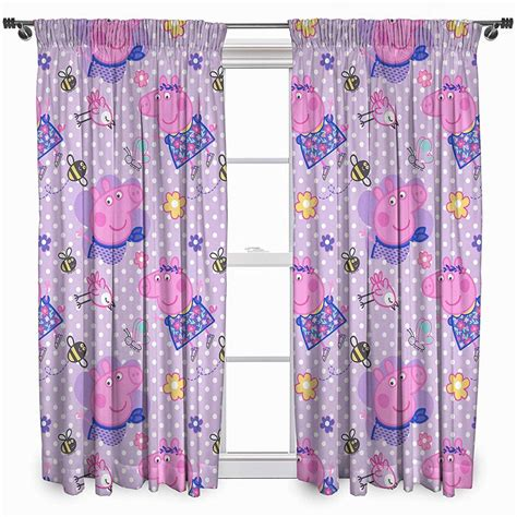 peppa pig curtains peppa pig happy curtains 72 inch drop characterlinens