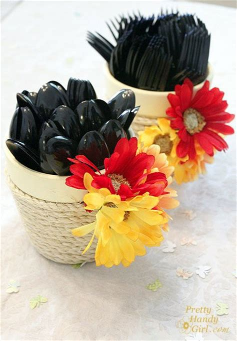 creative   flower pots rustic crafts chic decor