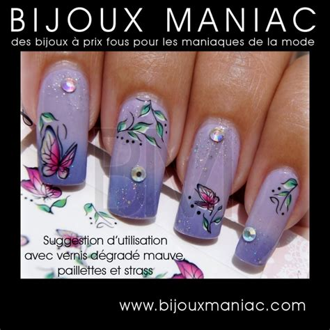 Deco Ongle by D 233 Coration D Ongles Motif Papillon Water D 233 Calco