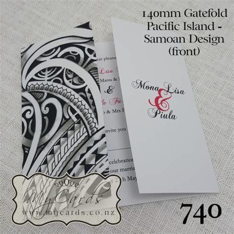 pacific island wedding invitation design 740 mycards akld - Wedding Invitations South Auckland