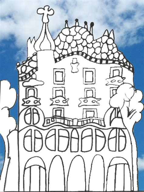 gaudi colouring gaudi barcelona 8499369855 gaudi drawings and children on