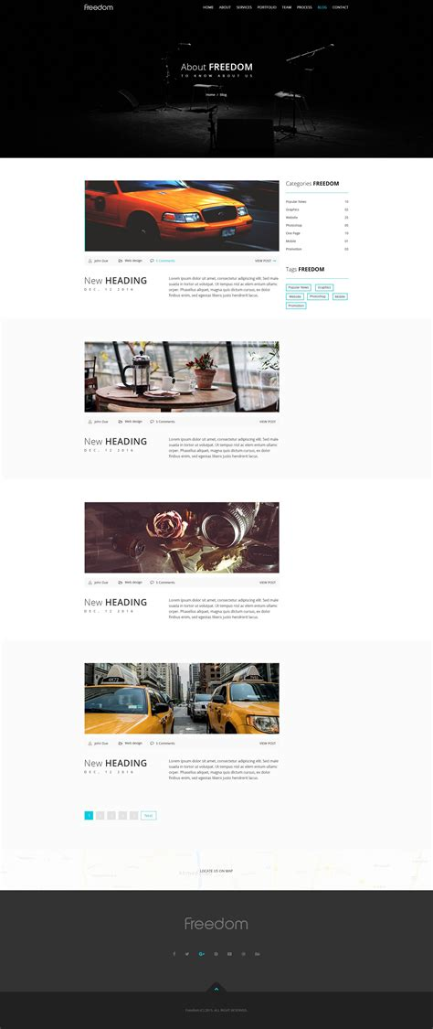 freedom one page responsive html template business