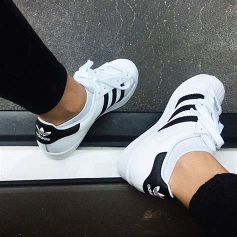 black and white superstar adidas