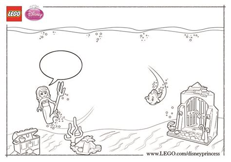 lego underwater coloring pages color and fill in this scene of ariel s beautiful
