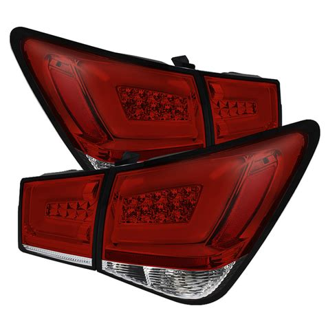 chevy cruze light bar chevy cruze 2011 2014 light bar led tail lights red clear