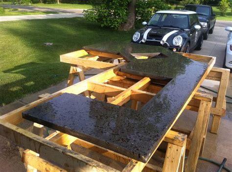 Diy Outdoor Countertops by Concrete Countertop Backyard Patio Concrete Kitchen Counter
