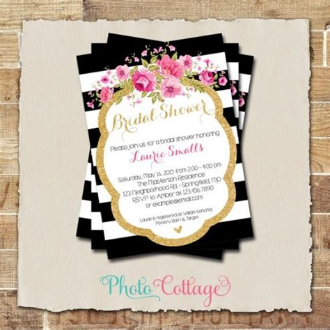 black and gold bridal shower invitations bridal shower invitation glitter gold invitation peony