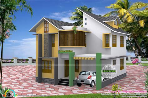 House Plans In Kerala With 3 Bedrooms Three Bedroom Small Home In 4 5 Cents Kerala Home Design And Floor Plans