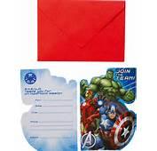 8 Cartes Dinvitation Avec Enveloppes Avengers