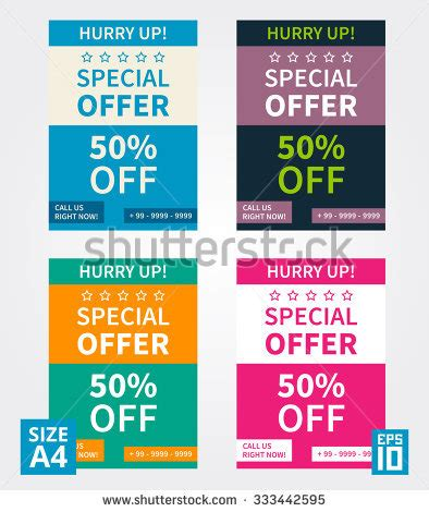 Vector Flyer Design Special Offer Business Template Size A4 333442595 Shutterstock Special Offer Email Template