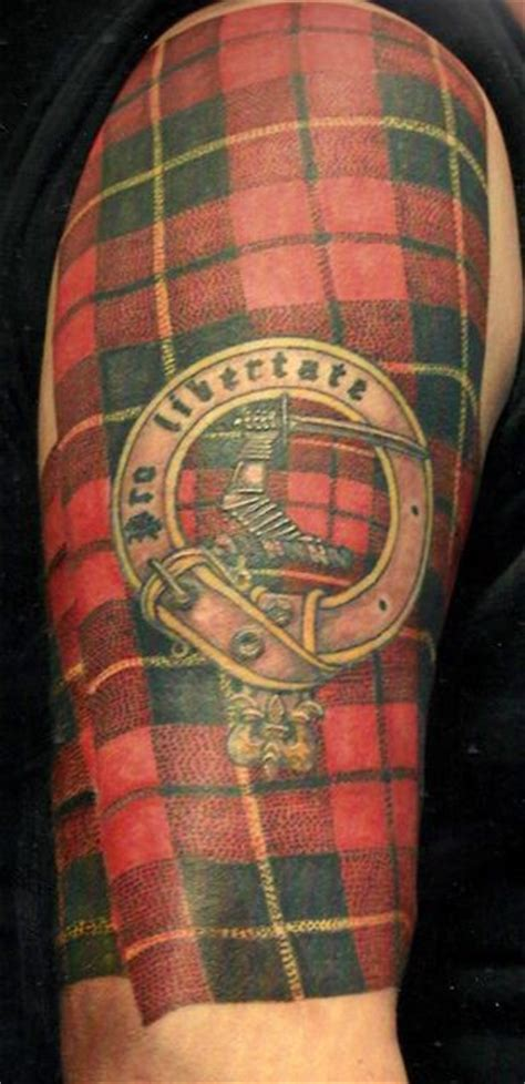 wallace tattoo designs pro libertate clan wallace tartan with clan badge