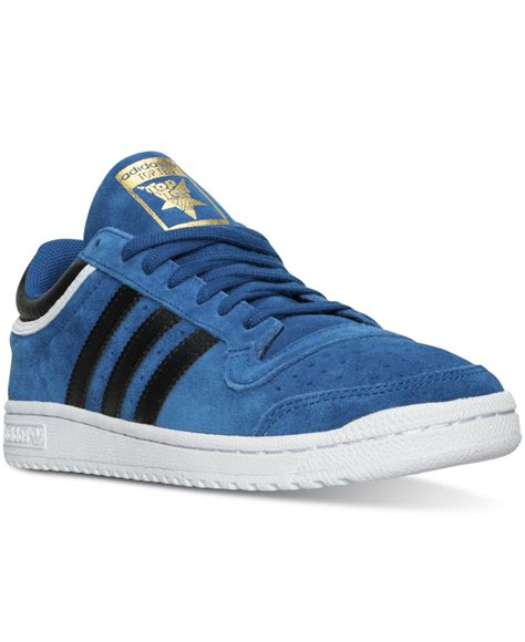 Adidas Slop Xiun Black Slip On Casual Formal Kets Sneakers Kerja adidas originals s top ten lo suede casual sneakers from finish line in blue for lyst