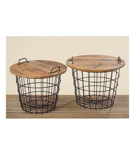 table basse ronde style industriel en bois et m 233 tal flexo