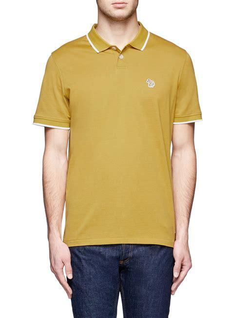 Bap Signature 2 T Shirt lyst paul smith contrast border zebra logo polo shirt in