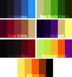 try colors try out these themed color palettes color