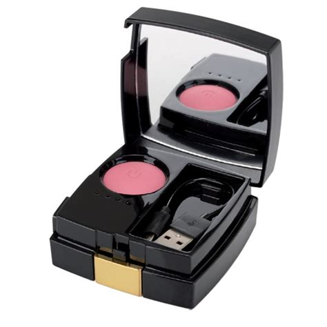 Blush On With Mirror blush compact mirror power bank 4200mah black gold bytemytech