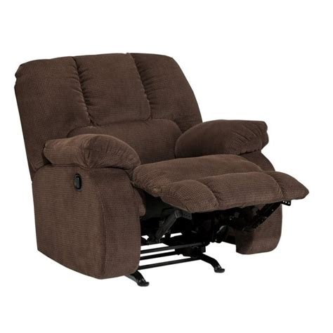 fabric rocker recliners ashley roan fabric rocker recliner in cocoa 3860425