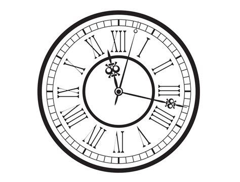 printable grandfather clock face vintage old clock vector vector free download