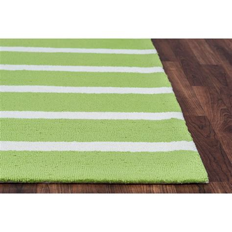 Rizzy Home Azzura Hill Lime Green Striped 3 Ft 6 In X 5 Lime Green Outdoor Rug