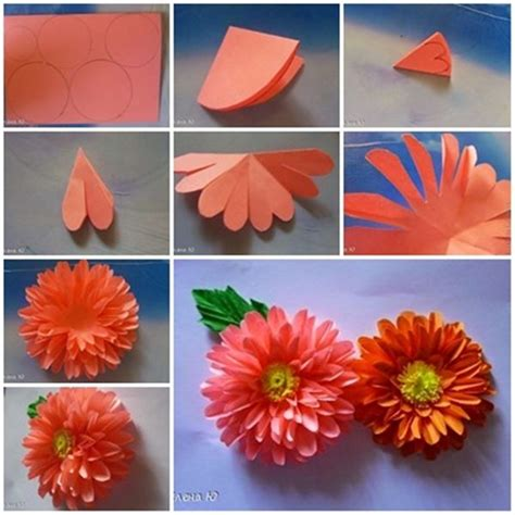 flower design using colored paper how to make 10 different flower craft tutorials step by