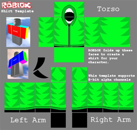 10 Images Of Green Clothes For Roblox Template Kpopped Com Roblox Shirt Template Maker