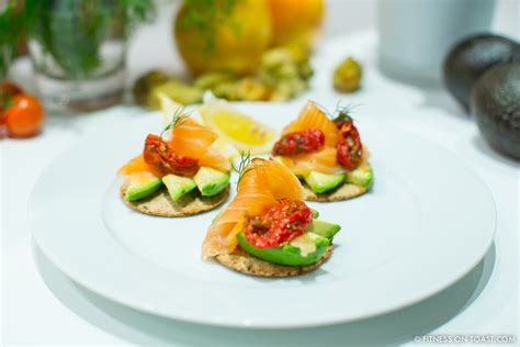 healthy canape ideas fitness on toast