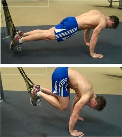 suspended crunch trx ab exercise suspension trx and