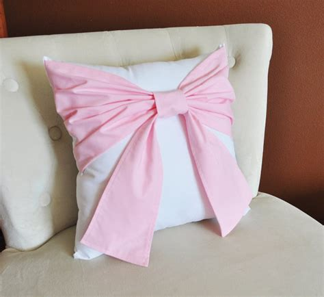 light pink throw pillows decorative throw pillow baby nursery pillow light pink bow