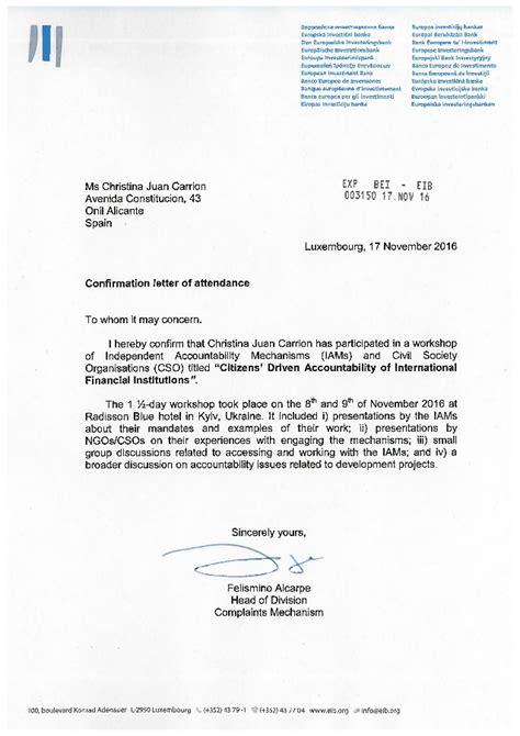 Confirmation Letter Attending confirmation letter of attendance juan carrion