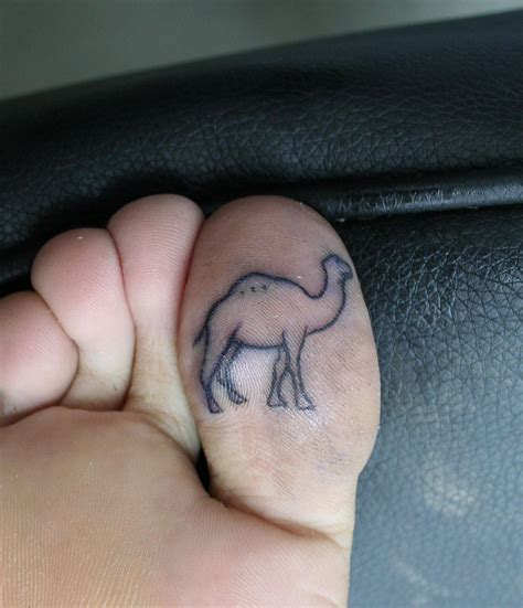 tattoo on toes designs camel on toe