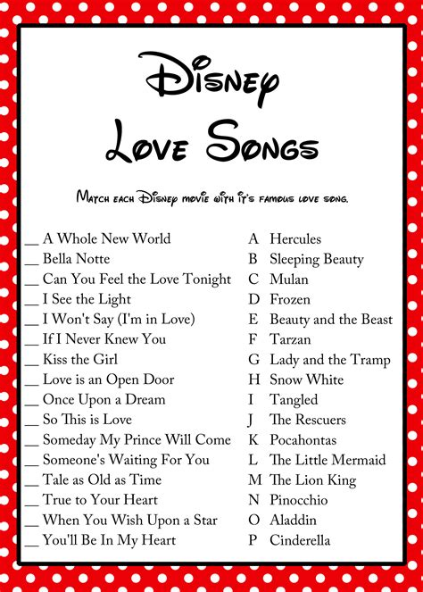 songs free free disney song bridal shower bridal shower