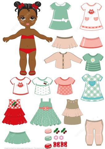 american doll paper crafts american child paper doll with clothing set