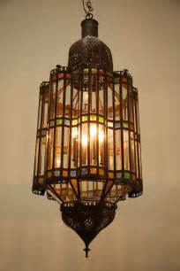Moroccan Style Lighting Chandeliers Large Moroccan Glass Pendant Chandelier At 1stdibs