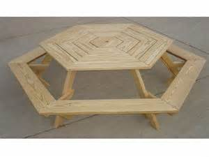 woodwork plans to build hexagon picnic table pdf plans