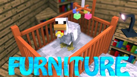 Minecraft Baby Crib by Furniture Mod Minecraft Decocraft Mod Showcase