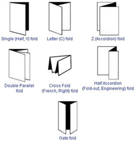 Paper Fold Types - paper fold types