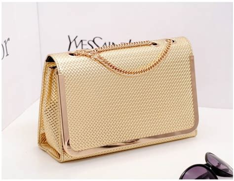 80518 Gold Pu Tas Import Tas Fashion Tas Batam High Quality jual tas fashion import korea tas pesta import tas import murah gold silver keishopp