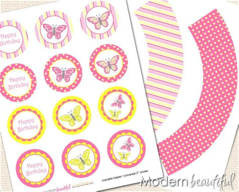 free printable butterfly birthday decorations printable cupcake toppers and wrappers butterfly party
