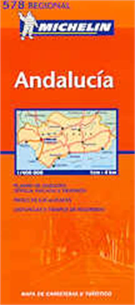 libro andalusia regional map 578 mappa stradale n 578 andalusia andalucia spagna con siviglia marbella malaga granada