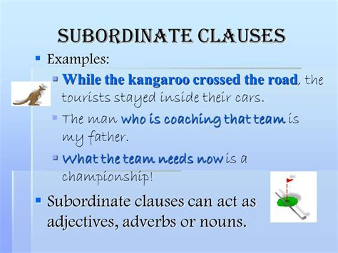 identifying adjective adverb and noun clauses in a