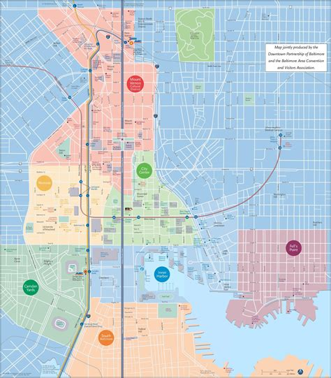 map usa baltimore baltimore tourist attractions map