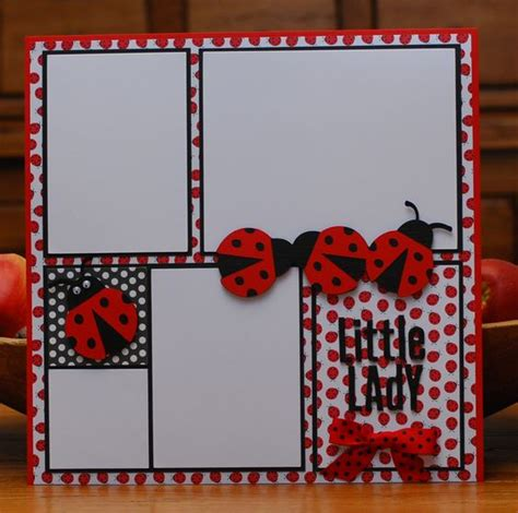 ladybug scrapbook layout ladybug scrapbook page by a page scrapbook pages