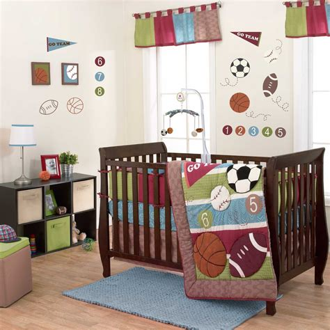Belle Sports Star Baby Bedding And Decor Baby Bedding Sport Crib Bedding Set