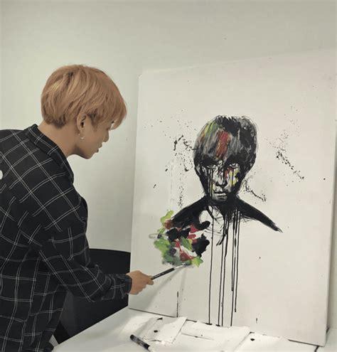 noticia  jungkook pinto de nuevo el cuadro de