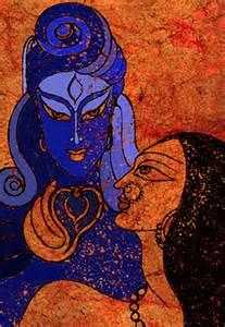 shiva and shakti mixed media by sonali chaudhari