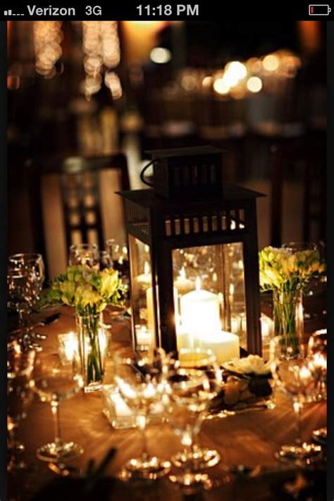 lantern center pieces wedding bliss pinterest