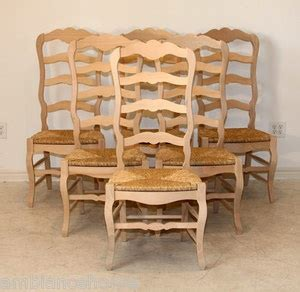 unfinished wooden ladder back chairs unfinished set of 6 country ladder back side