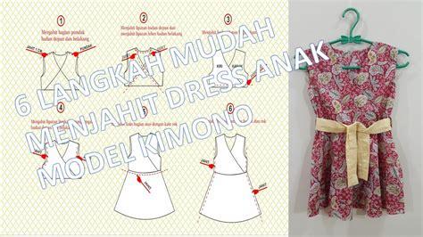 membuat pola baju bagi pemula cara membuat pola dan menjahit dress anak perempuan model